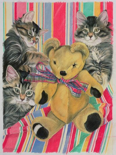 Kittens and Teddy-Anne Robinson-Giclee Print
