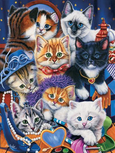 Kittens in Closet-Jenny Newland-Giclee Print