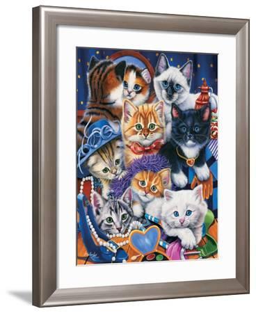 Kittens in Closet-Jenny Newland-Framed Giclee Print