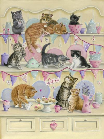 Kittens on Dresser-Janet Pidoux-Giclee Print