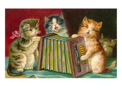 Kittens Playing Concertina--Art Print