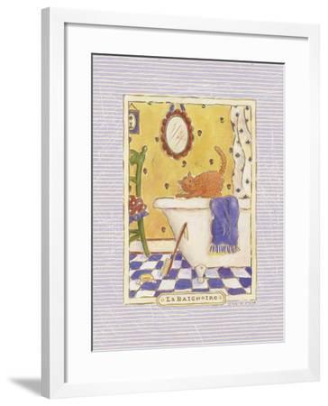 Kitty Baignoire-Sudi Mccollum-Framed Art Print