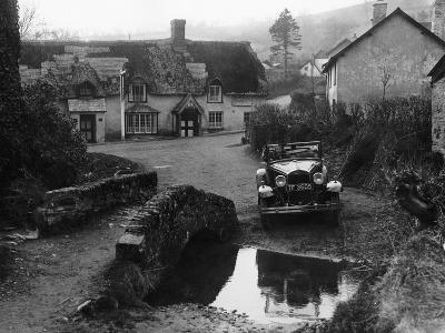 Kitty Brunell at the Wheel of a Ford Model A, Winsford, Somerset, 1930--Photographic Print