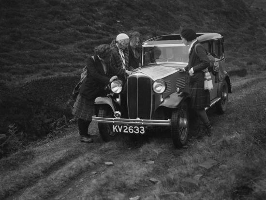 Kitty Brunell road testing a Standard Little Twelve saloon, c1932-Bill Brunell-Photographic Print