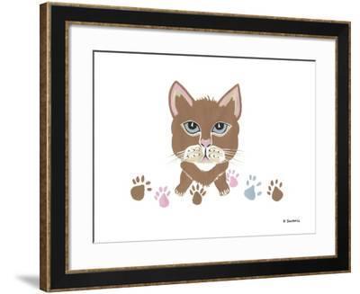 Kitty Footprints-Sartoris ART-Framed Giclee Print