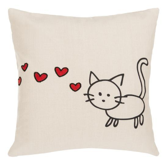 Kitty Love Pillow--Home Accessories