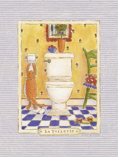 Kitty Toilette-Sudi Mccollum-Art Print