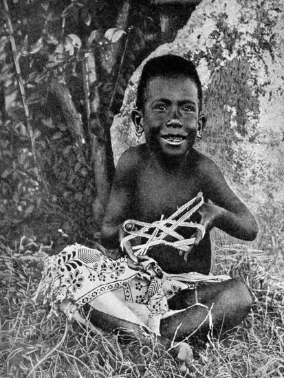 Kiwai Child, Living at the Entrance to the Fly River, New Guinea, 1922-WN Beaver-Giclee Print