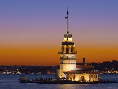 Kiz Kulesi, Salamac, Bosphorus, Istanbul, Turkey-Michele Falzone-Photographic Print