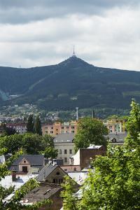 Liberec, town view with the 'Jeschken' (mountain) by Klaus-Gerhard Dumrath