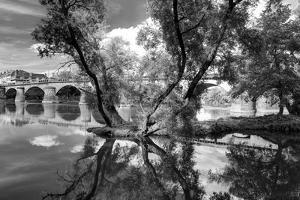 Pont of the Morts, bridge, the Moselle, Metz, Département Moselle, region Alsace-Champagne-Ardenne- by Klaus Neuner