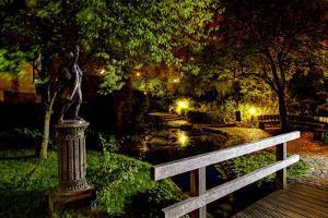 The Scamp, Bronze Monument, Park, Blue Hour, Wangen, Allgaeu, Baden-Wurttemberg, Germany by Klaus Neuner