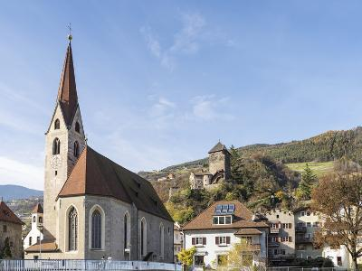 Klausen, Old Town and Church, Castle Branzoll, South Tyrol, Italy-Martin Zwick-Photographic Print