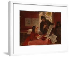 Nikita Zotov Teaches Young Peter I, 1902 by Klavdi Vasilyevich Lebedev