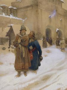 Podyachy, 1913 by Klavdi Vasilyevich Lebedev