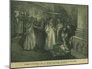 Tsar Fyodor III Burn the Books of Russian Nobility 1682, 1897 by Klavdi Vasilyevich Lebedev