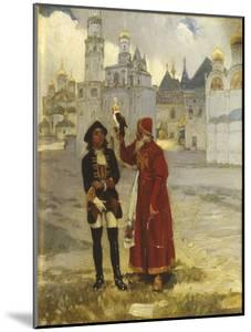Young Peter I and His Falcon, 1900s by Klavdi Vasilyevich Lebedev