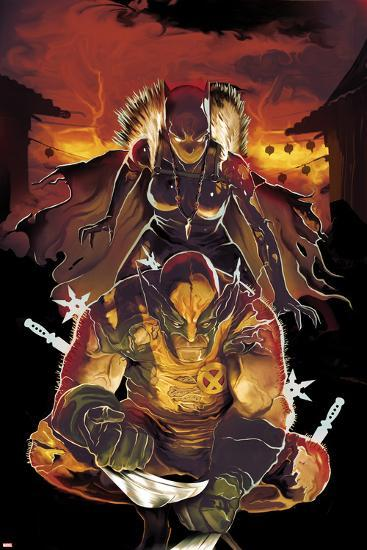 Klaws of the Panther No.2 Cover: Wolverine Crouching with Black Panther Behind Him-Mike Del Mundo-Art Print