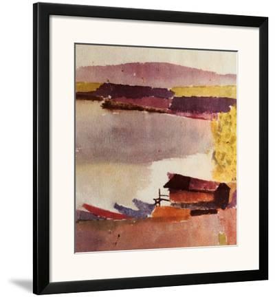 Kleiner Hafen, 1914-Paul Klee-Framed Art Print