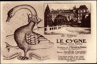 Kleve Am Niederrhein, Schwan, Candida Candidis, Embleme De Claude De France--Giclee Print