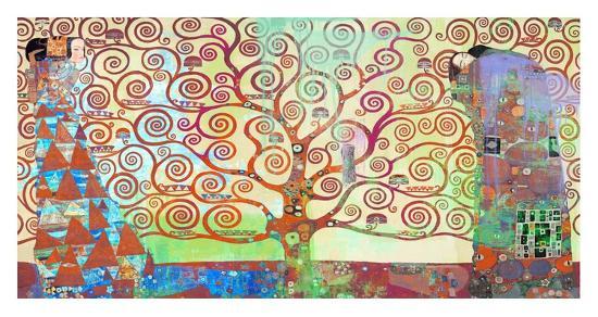 Klimt's Tree of Life 2.0-Eric Chestier-Giclee Print