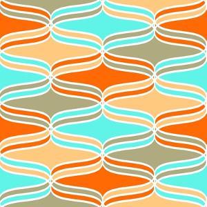 Geometric Wavy Lines Pattern by klivenkova