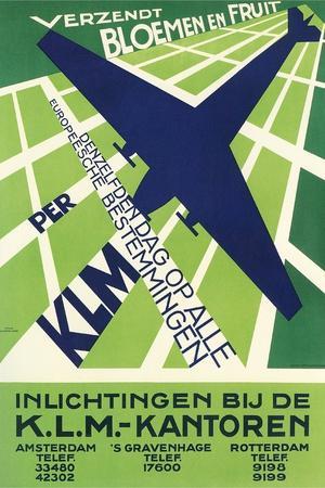 Klm Travel Poster--Art Print