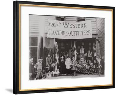 Klondike Outfitters Store, Cordova Street, Vancouver 1897--Framed Photographic Print
