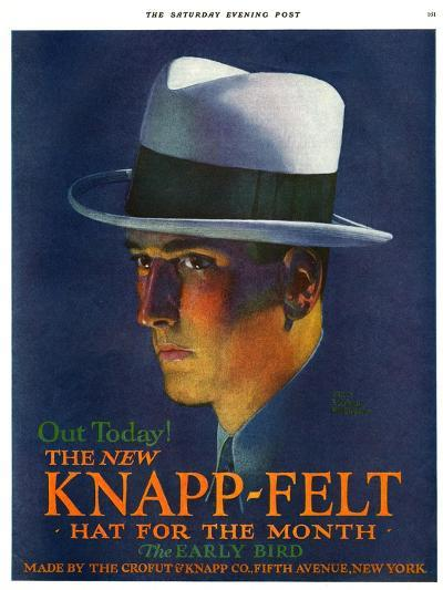 Knapp-Felt, Magazine Advertisement, USA, 1920--Giclee Print