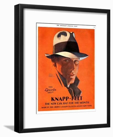 Knapp-Felt, Magazine Advertisement, USA, 1920--Framed Giclee Print
