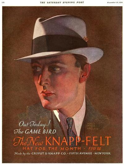 Knapp-Felt, Magazine Advertisement , USA, 1930--Giclee Print