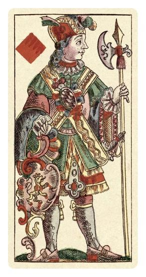 Knave of Diamonds (Bauern Hochzeit Deck)-Andreas Benedictus Gobl-Art Print