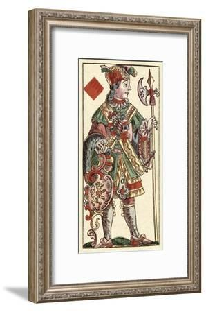 Knave of Diamonds (Bauern Hochzeit Deck)-Andreas Benedictus Gobl-Framed Art Print
