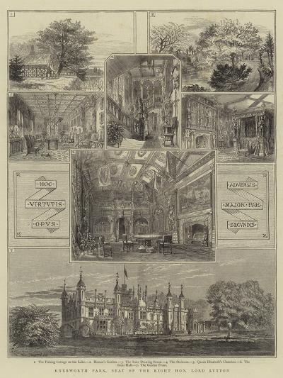 Knebworth Park, Seat of the Right Honourable Lord Lytton--Giclee Print