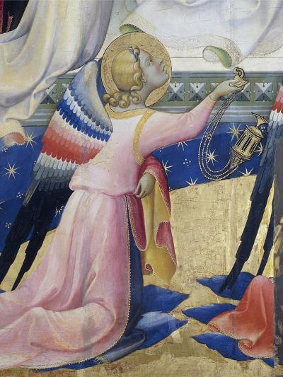 Kneeling Angel, Detail from Central Panel of Coronation of Virgin by Lorenzo Monaco--Giclee Print