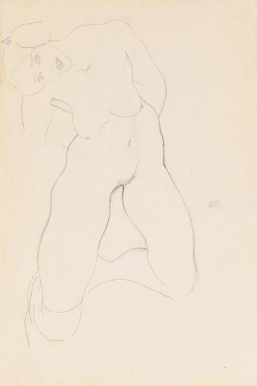 Kneeling Female Nude, 1912-Egon Schiele-Giclee Print