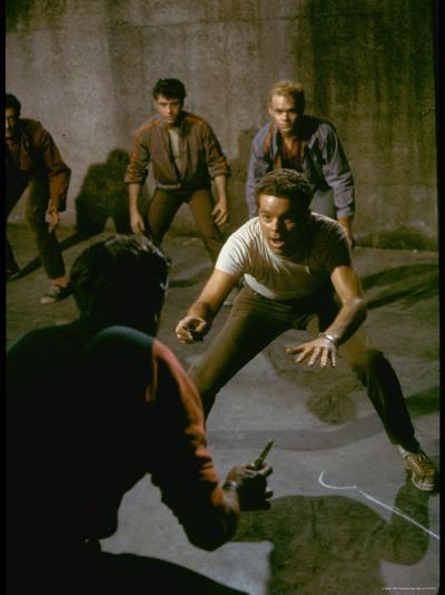 Knife Fight Scene from West Side Story-Gjon Mili-Premium Photographic Print