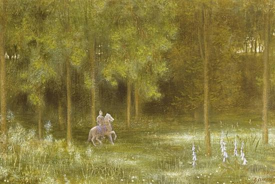 Knight in a Landscape-Edward Clifford-Giclee Print