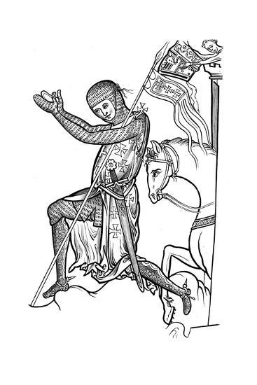 Knight in Armour, Late 13th Century--Giclee Print
