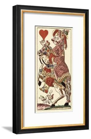 Knight of Hearts (Bauern Hochzeit Deck)-Andreas Benedictus Gobl-Framed Art Print