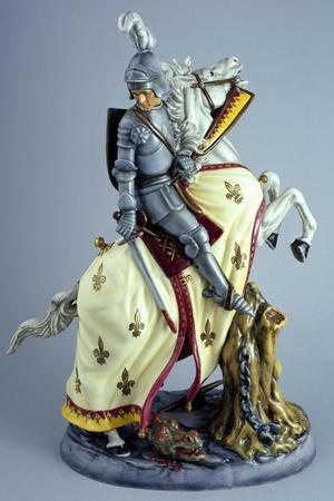 Knight on White Horse, Prestige Series, Ceramic--Giclee Print