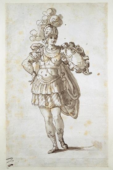 Knight or Squire Bearing a Shield-Inigo Jones-Giclee Print