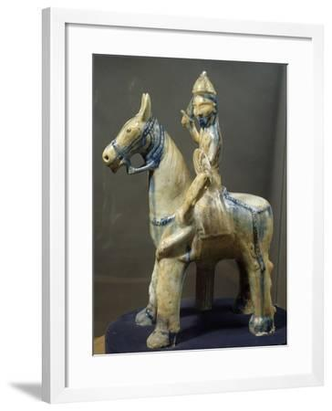 Knight, Porcelain Statue from Al-Raqqa, Syria, 9th Century--Framed Giclee Print
