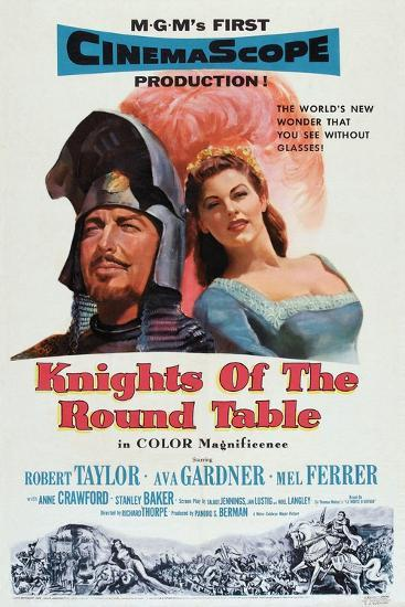 Knights of the Round Table, Robert Taylor, Ava Gardner, 1953--Art Print