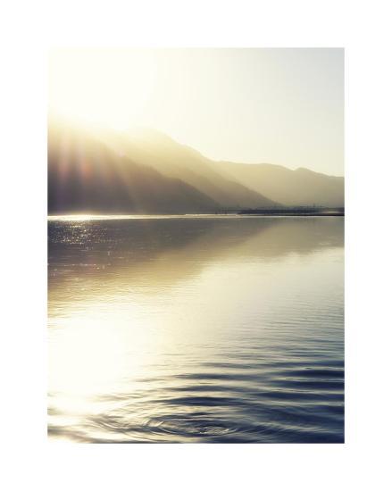 Knik River scenic-Savanah Plank-Giclee Print