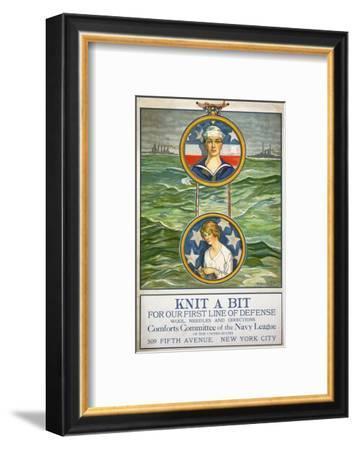 Knit a Bit--Framed Giclee Print
