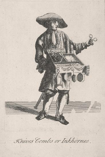 Knives Combs or Inkhornes, Cries of London, C1688-Marcellus Laroon-Giclee Print