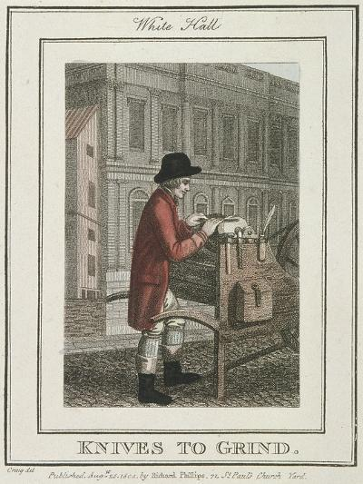 Knives to Grind, Cries of London, 1804-William Marshall Craig-Giclee Print