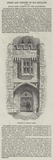Knole Park, Gateway to the Apartments--Giclee Print