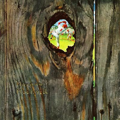 """""""Knothole Baseball"""", August 30,1958-Norman Rockwell-Giclee Print"""